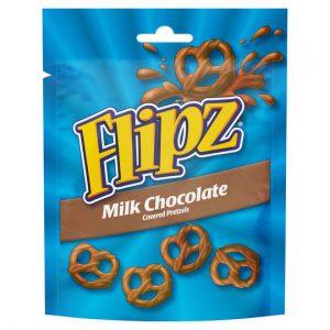 Flipz Pouches Milk Chocolate Pretzels 90g