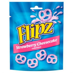 Flipz Pouches Strawberry Pretzels 90g