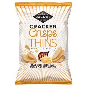 Jacobs Cracker Crisp Thins Cheddar & Onion 130g