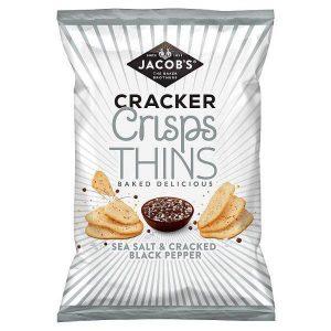 Jacobs Cracker Crisp Thins Sea Salt & Pepper 130g