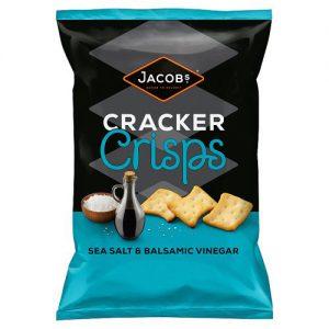 Jacobs Cracker Crisps Sea Salt & Balsamic Vinegar Snacks 150g