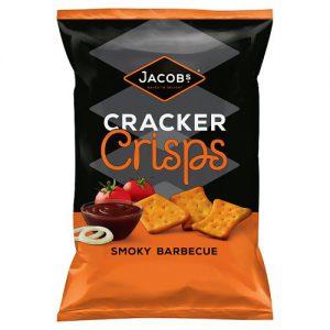 Jacobs Cracker Crisps Smoky Barbecue Snacks 150g
