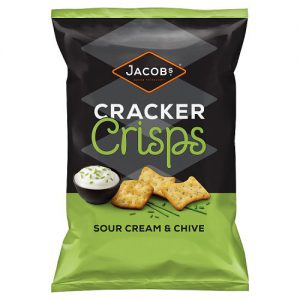 Jacobs Cracker Crisps Sour Cream & Chive Snacks 150g