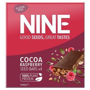 NINE Cocoa Raspberry Seed Bars