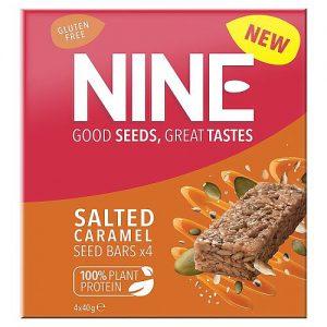 NINE Salted Caramel Seed Bars