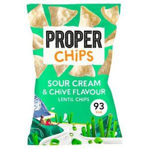Properchips Sour Cream & Chive Flavour Lentil Chips 20g