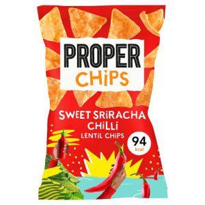 Properchips Sweet Sriracha Chilli Lentil Chips 20g