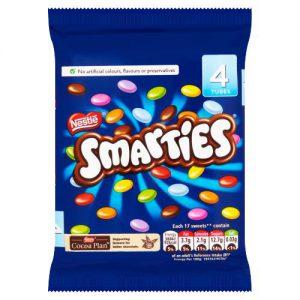 SMARTIES Hexatube multi pack 12(4x38g)