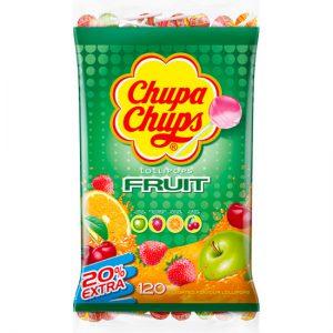 Chupa Chups Fruit Lollipops Bag 120pc