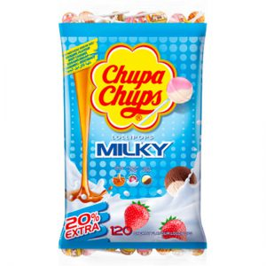 Chupa Chups Milky Lollipops Bag 120pc