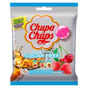Chupa Chups Sugar Free Lollipops Bag 10pc