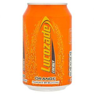 Lucozade Energy 330ML Orange 24 Can