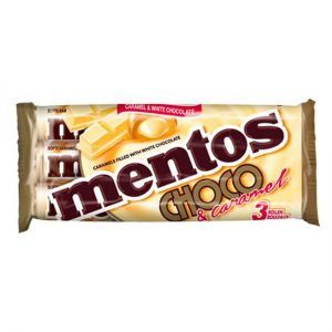Mentos Chewy Caramels Filled With White Chocolate 3 Pack