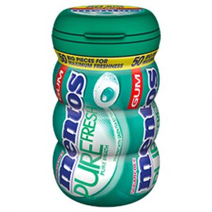 Mentos Pure Fresh Gum Spearmint Michelin Bottle 50pc