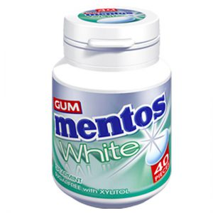 Mentos White Gum Spearmint Bottle Sugar Free with Xylitol 40pc